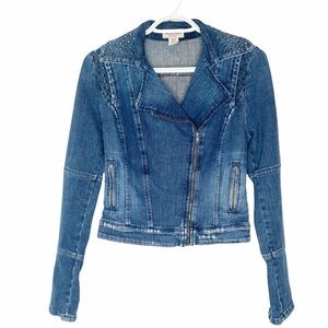 Vintage Guess 90's studded blue denim jean jacket